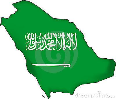 map flag Saudi Arabia (vector)