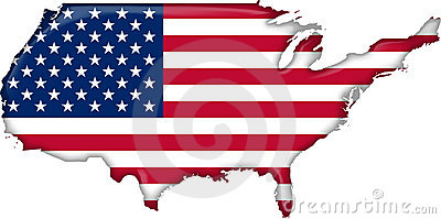 map flag United States (vector)
