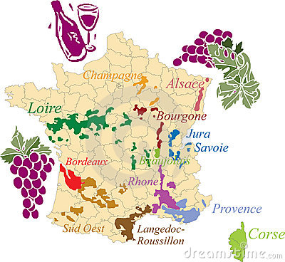 Free Map French Wine. Stock Images - 9370994