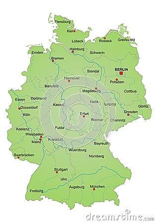 Free Map Germany Royalty Free Stock Photos - 16021148