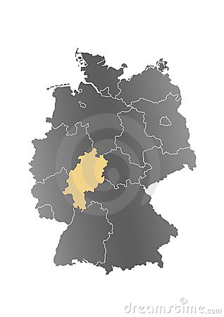 Map Germany Hesse