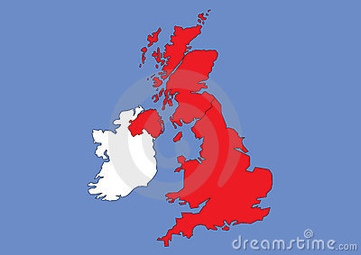 Map of Great Britain and Ireland