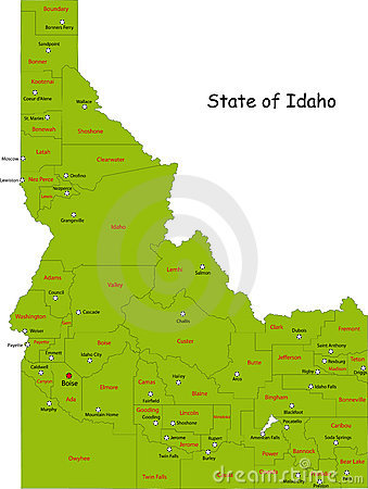 Map of Idaho state