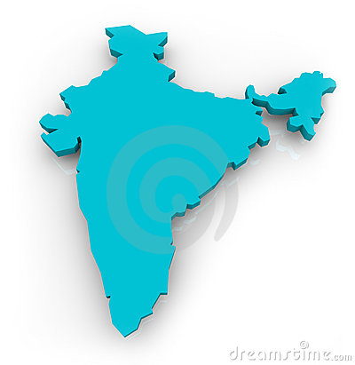 Map of India - Blue