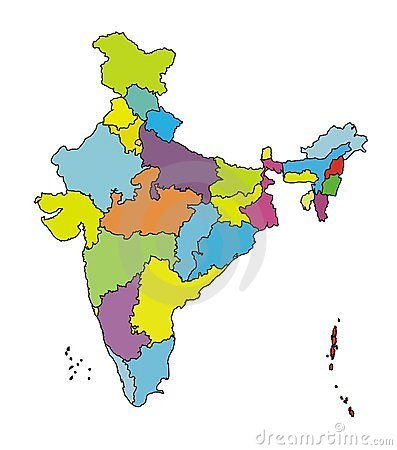 Map of India-More authentic