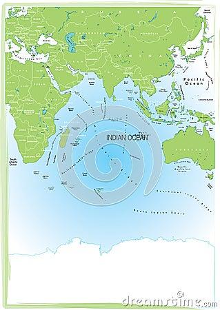 Map indian ocean.
