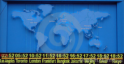 Map with international timezone