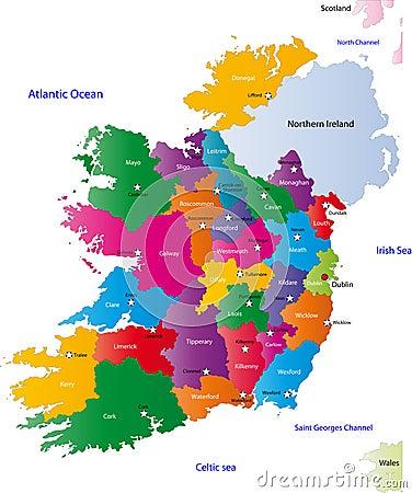 map of ireland royalty free stock photography image 6877347