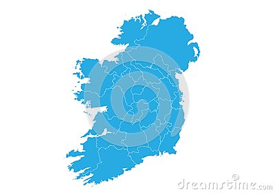 Map of ireland. High detailed vector map - ireland. Vector Illustration