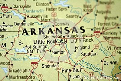 Map of Little Rock Arkansas