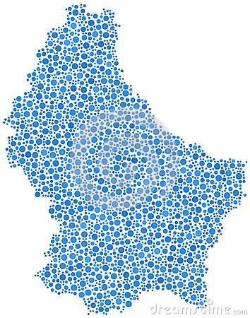 Map of Luxembourg - Europe -