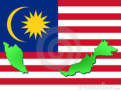 map of malaysia. Stock Images: Map of Malaysia