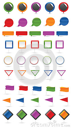 Map markers set