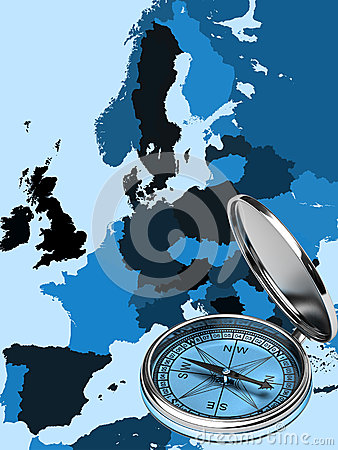 Map of modern Europe