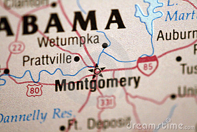 Map of Montgomery Alabama
