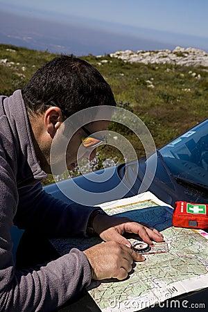 Map navigation, trekking