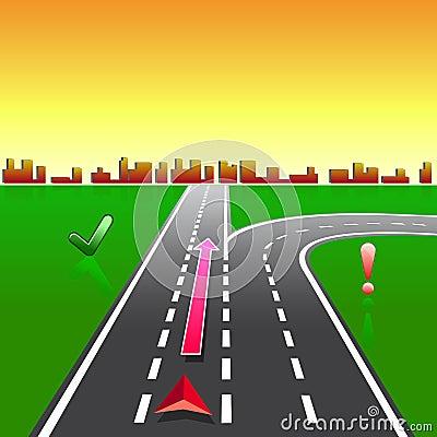 Map navigator city streets gps