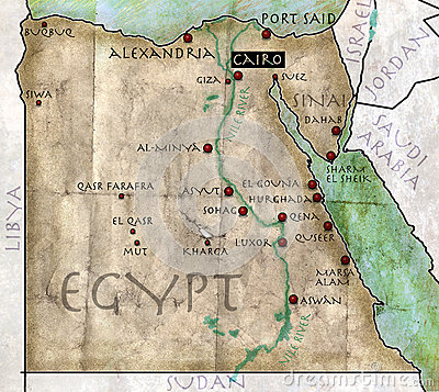 Free Map Of Egypt Stock Photos - 32668923