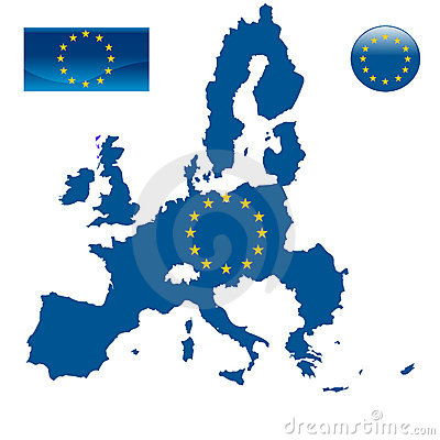 Free Map Of European Union And EU Flag Stock Photography - 8573352