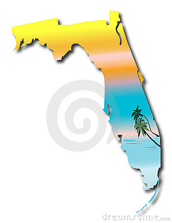 Free Map Of Florida Stock Photos - 11196833
