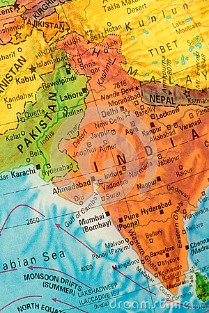 Free Map Of India Stock Photos - 48857313
