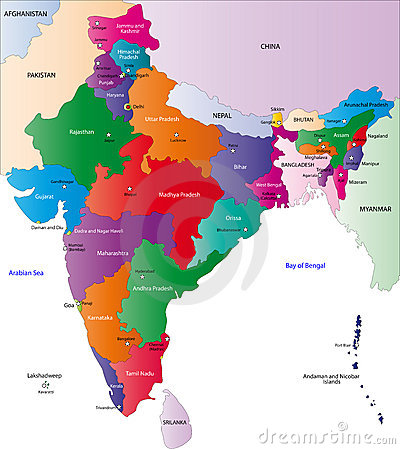 Free Map Of India Royalty Free Stock Photos - 6488778