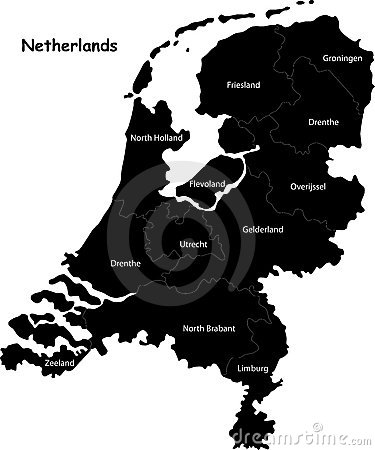 Free Map Of Netherlands Royalty Free Stock Images - 6300209