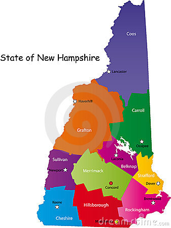 Free Map Of New Hampshire State Stock Photo - 9288930