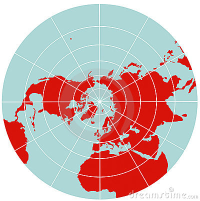 Free Map Of Northern Hemisphere - Polar Stereographic Royalty Free Stock Photos - 7741108