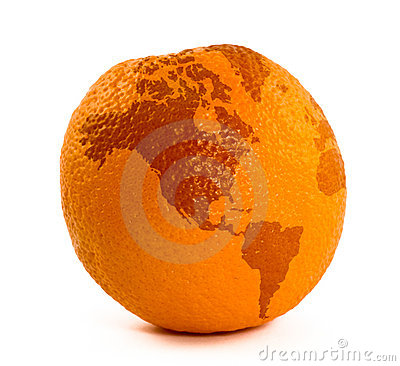 Map on orange