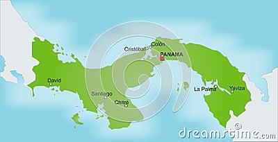 Map Panama