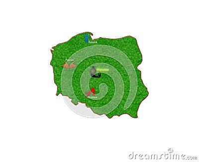 Map of Polish destination