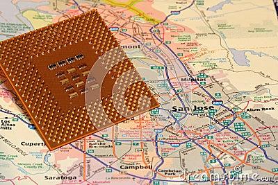Map San Jose California Silicon valley