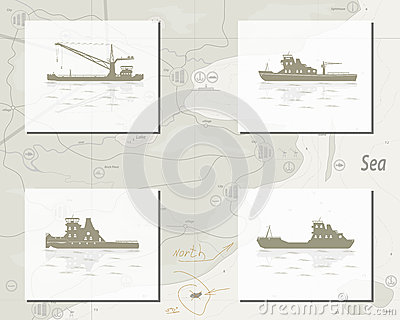 Map with ships