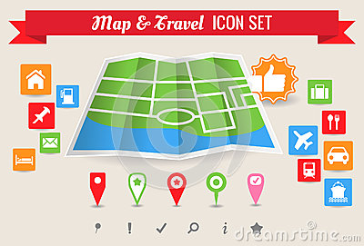 Map & Travel Icon Set