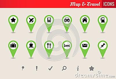 Map & Travel Vector Icon Set