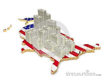 Map of U.S. dollars