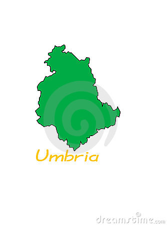 Map of Umbria region