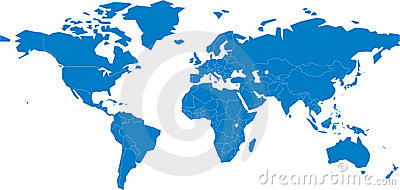 A map of the world Vector Illustration