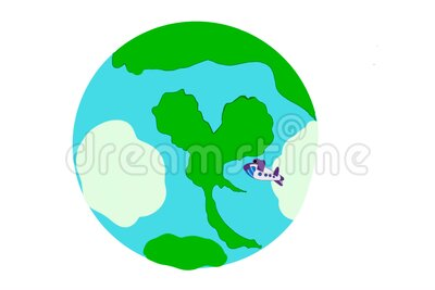 Map of the world spread Corona virus From abroad Come from the airline transportation system. Come to Thailand Scatter - animation vector illustration
