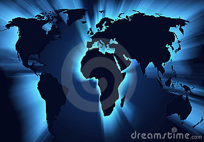 Mapa de mundo do globo