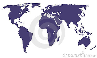 Mapa de mundo do vetor