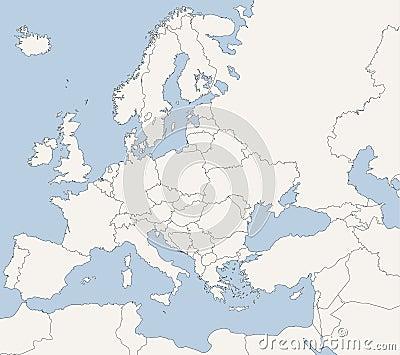 Mapa de países europeus