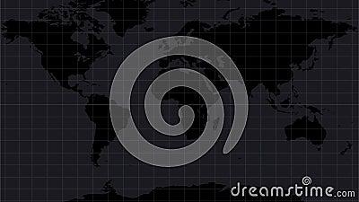 Mapa del mundo con las muestras del peligro en todo el mundo Los s?mbolos ponen en marcha las armas o la acci?n militar ilustración del vector