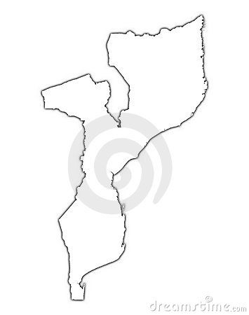 Mapa do esboço de Mozambique