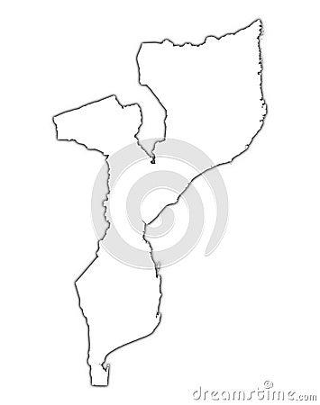 Mapa do esboço de Mozambique