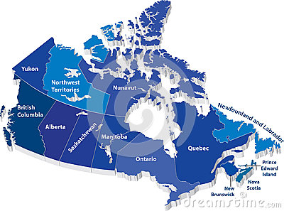 Mapa do vetor de Canadá