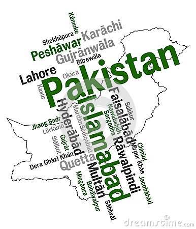 Mapa e cidades de Paquistão