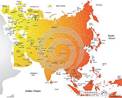 Mapa político de Eurasia