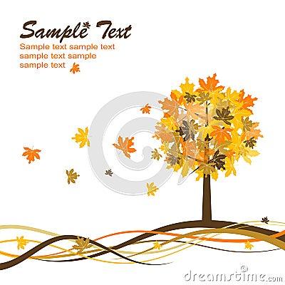 Maple autumn background